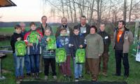 Die Junior-Ranger mit der Naturwacht des Biosphärenreservates und ihren Betreuern vom Förderverein für die Natur der Oberlausitzer Heide- und Teichlandschaft e. V. (Foto: C. Mäser)